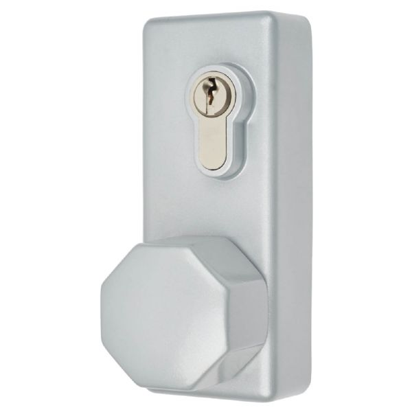 Arrone Outside Access Device - Hexagonal Turn - Silver - AR885K